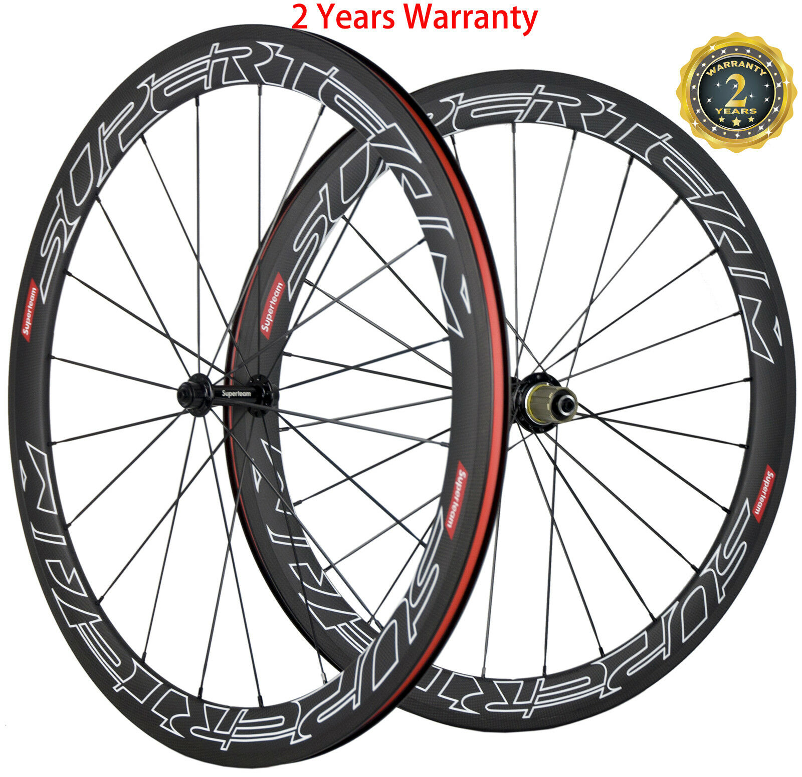 Carbon  Wheels 50mm Depth Clincher 23mm Width Road Bike Wheels 700C Race Whheels  shop clearance