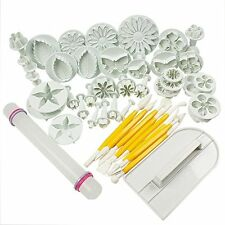 Cake Tools 46pcs Fondant Decorating Kit Cookie Mold Icing Plunger Cutter Tool