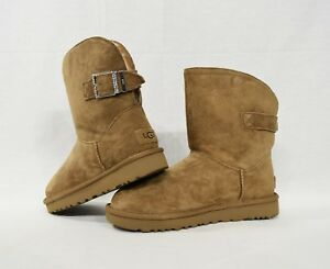 28a21a3e6b7 Details about NIB UGG Remora Buckle Boots in Chestnut Brown US Women's Size  7/ UK 5.5 / EUR 38