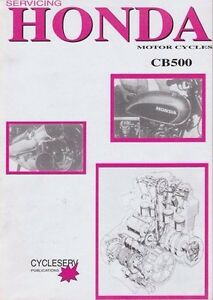 Honda CB500 FOUR OHC 1972-1974 Owners Service Repair Manual WORKSHOP BOOK CB 500