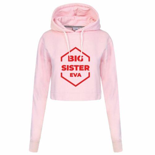 Personnalisé Big Sister Femmes génial Tenues Tee crophood hoodie