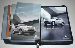 2003 mercury mountaineer owners manual set 03 w case cd ebay rh ebay com 2000 mercury mountaineer owners manual online 2004 mercury mountaineer owners manual pdf