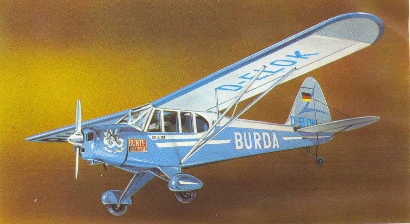 Hegi Burda-Piper Bauplan mit Bauanleitung - Selten