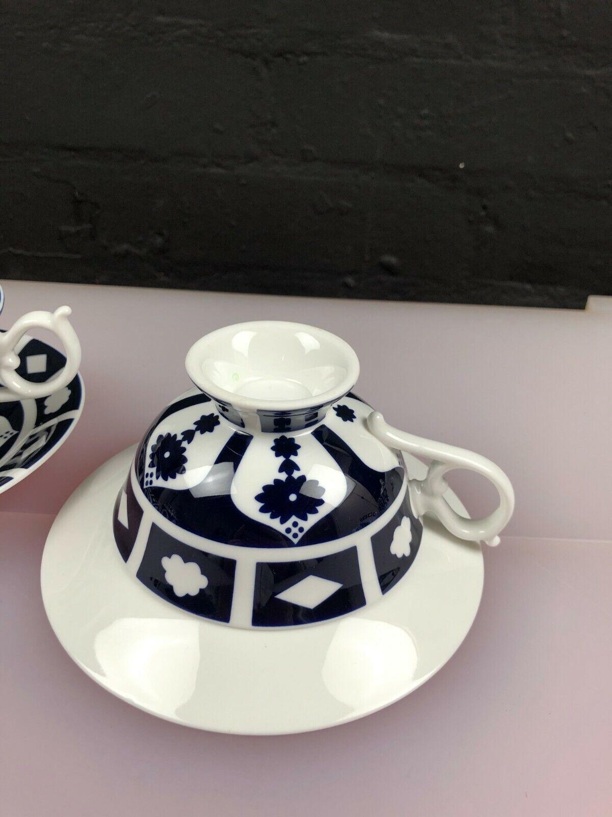 Image 6 - 2 x Royal Crown Derby Unfinished Imari 1128 Elizabeth Tea Cups & Saucers 5 Sets
