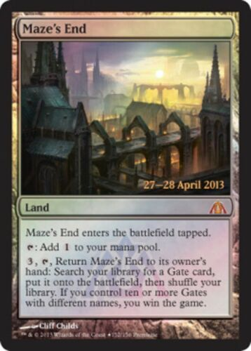 MAZE'S END Magic RARE mtg m//nm PROMO FOIL