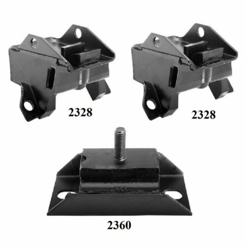 3 PCS Motor /& Transmission Mount Kit FIT BUICK LeSabre 6.6L Engine 1977-1978