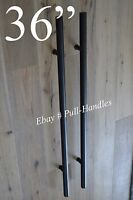 36 Entry Front Door Long Ladder Door Pull Handle Black Stainless Steel Entry