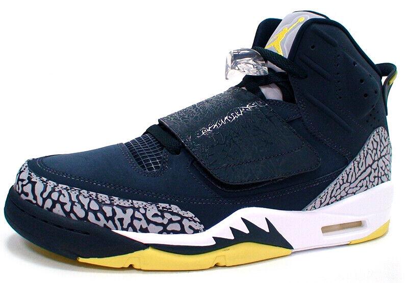 Nike JORDAN SON OF Men's shoes 512245-405 'ARMORY NAVY ELECTROLIME-WHITE' sz 9