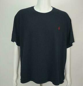 Polo-Ralph-Lauren-Mens-T-Shirt-CREWNECK-Tee-Short-Sleeve-Navy-Blue-Mens-Size-2XL
