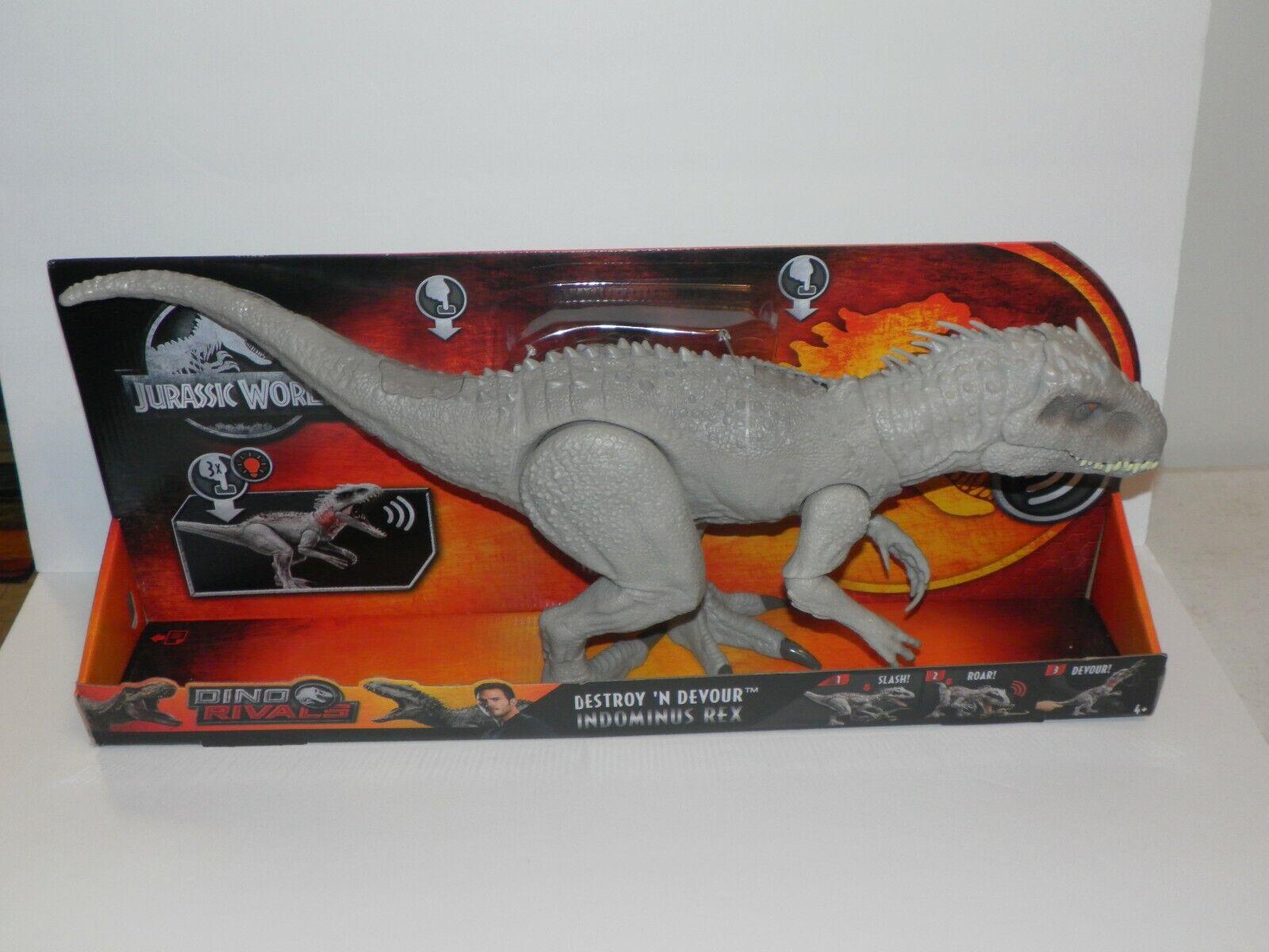 En Mano indominus Rex destruir 'n devorar Jurassic World JP 23  Largo Dino rivales