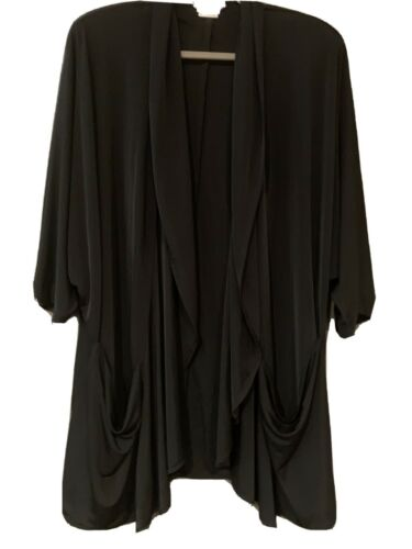 Christian Dior Beach Black Swim Coverup With Pocke