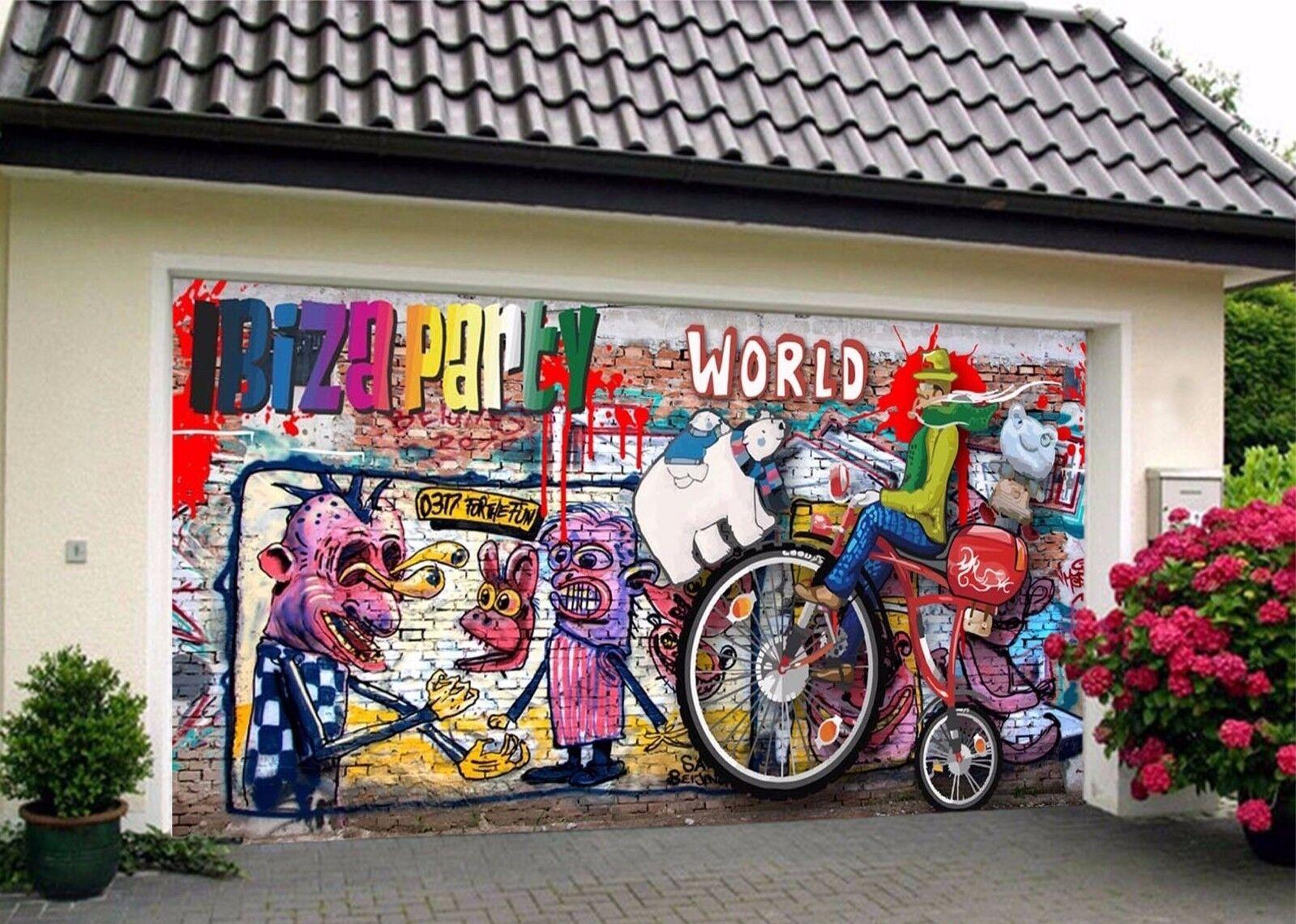 3D Graffiti 773 Garage Door Murals Wall Print Decal Wall AJ WALLPAPER AU Carly