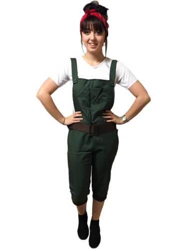 WW2 1940s Land Girl Womens Army World War 2 Fancy Dress Costume Size UK 6-16
