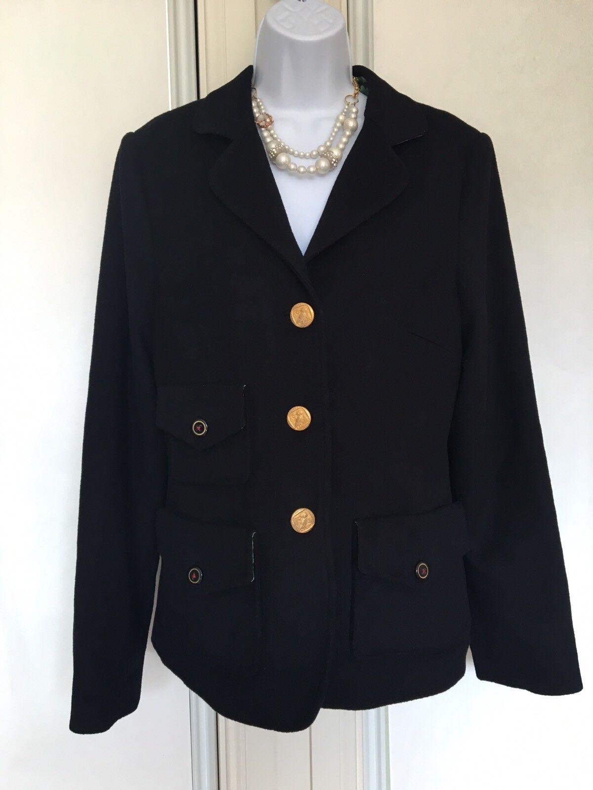 Trovata Womens Blazer Navy bluee Size L