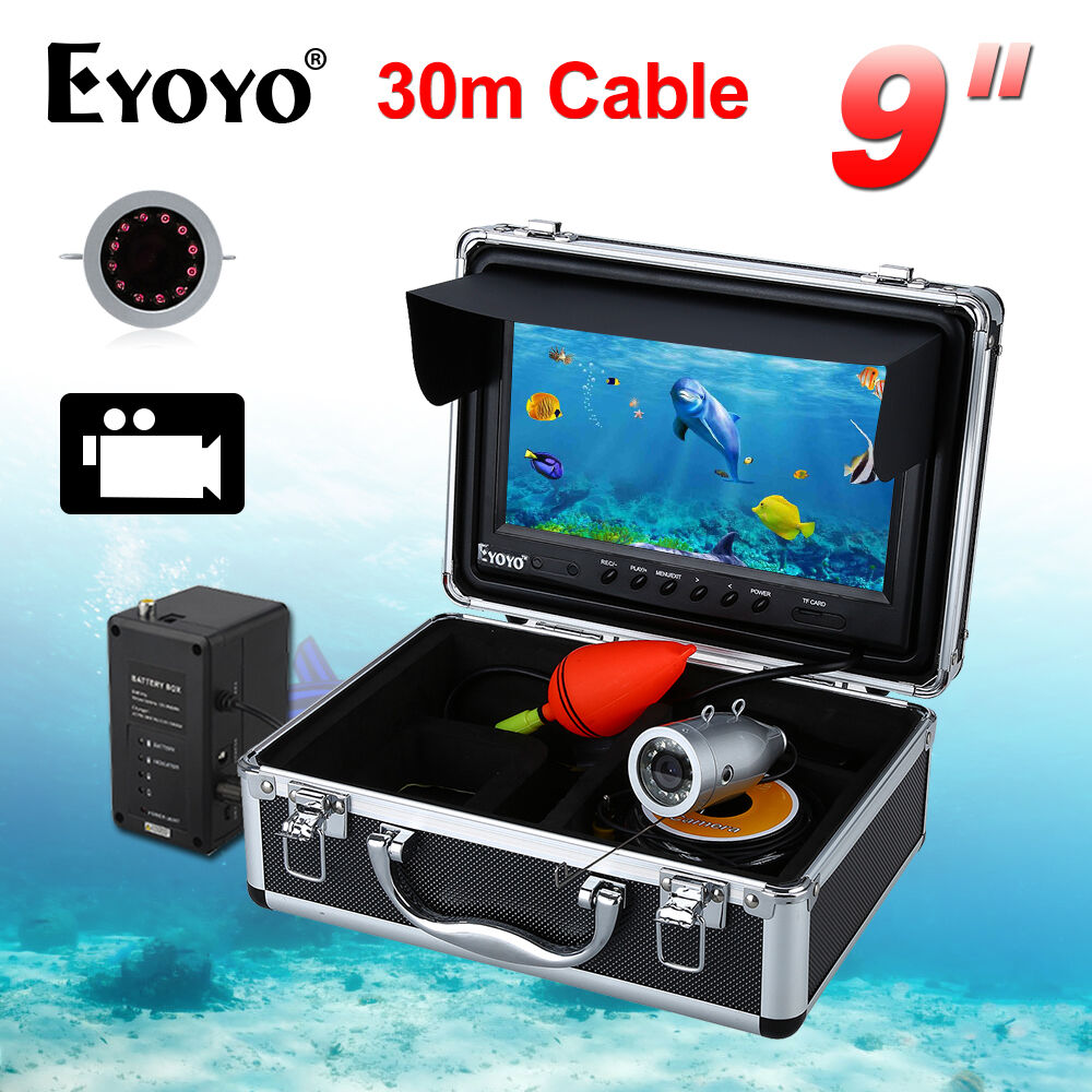 30m 9  LCD 1000TVL Infrared Fishing Camera Fish Finder 8GB DVR Cam Professional