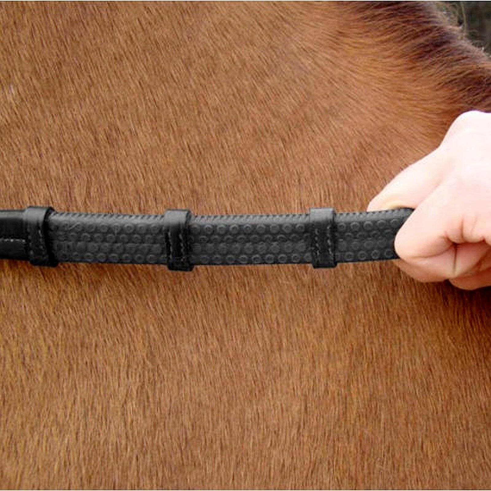 Amerigo Vespucci Hand Reins Grip Rubber Reins Hand with Hook Studs FREE DELIVERY 5566c1
