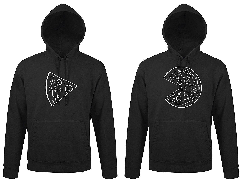 Partner Partner Partner coppiette hoodies maglione  Pizza  KING QUEEN MR Mrs BLONDIE marroneie BFF b88f82