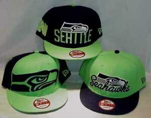 3-DIFFERENT-NEW-OLD-STOCK-SEATTLE-SEAHAWKS-ADJUSTABLE-HATS