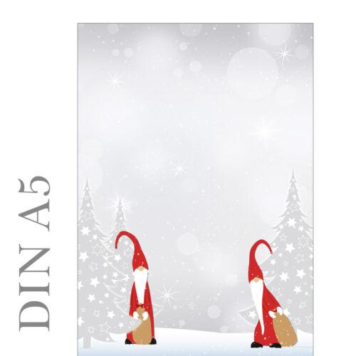 Wichtel Motivpapier Briefpapier Weihnachten 100 Blatt DIN A5 Weihnachtswichtel