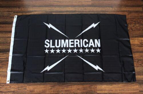 Slumerican Banner Flag Yelawolf Hip Hop Rap Music Huge 3/' x 5/' USA Shipper New
