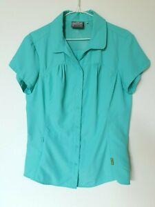 Kathmandu-Women-039-s-Shirt-Hiking-Camping-Travel-Short-Sleeve-Aqua-Blue-Size-12