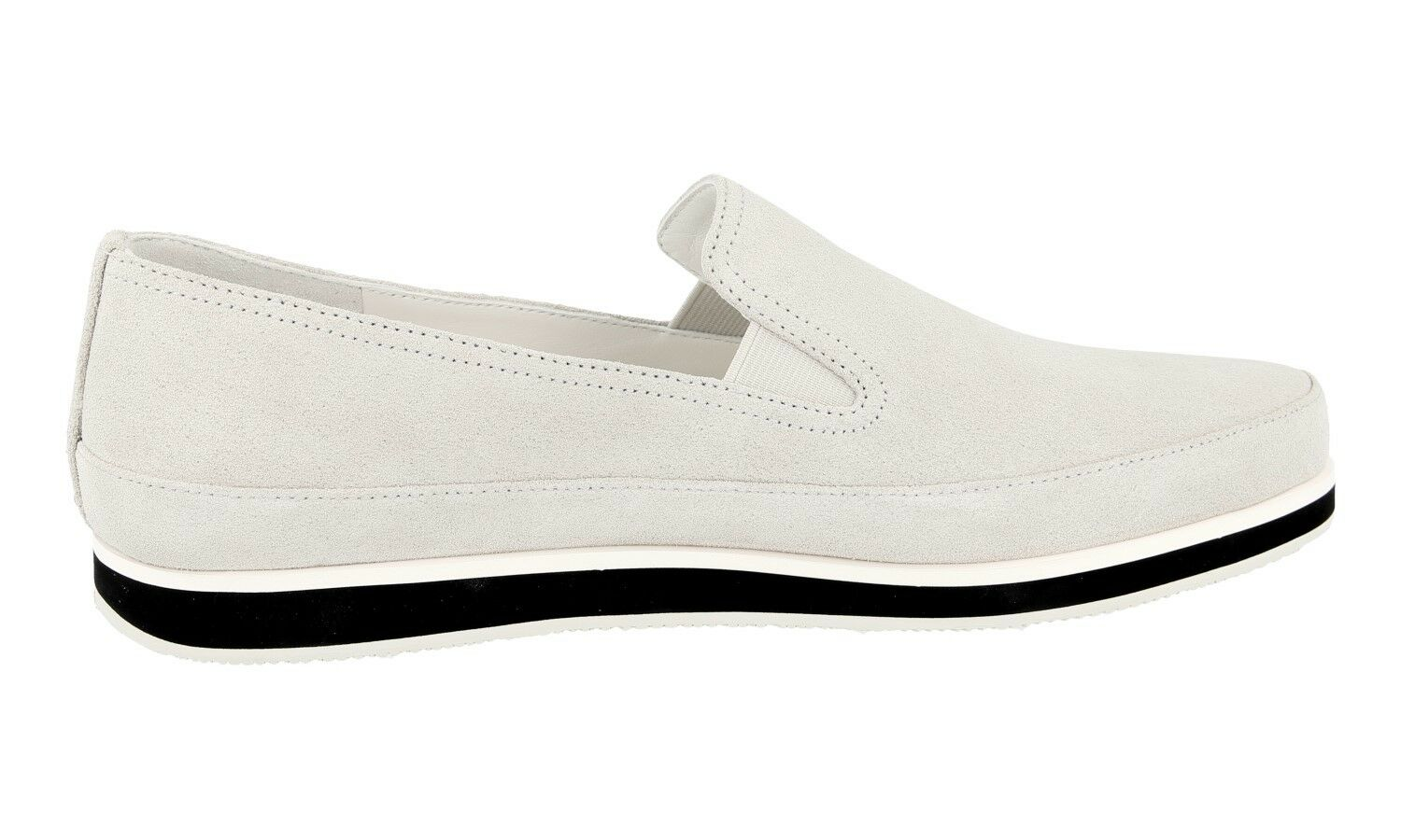 AUTH LUXURY PRADA baskets LOAFER LOAFER LOAFER chaussures 3S5749 NUBE NEW US 10 EU 40 40,5 UK 7 5c644f