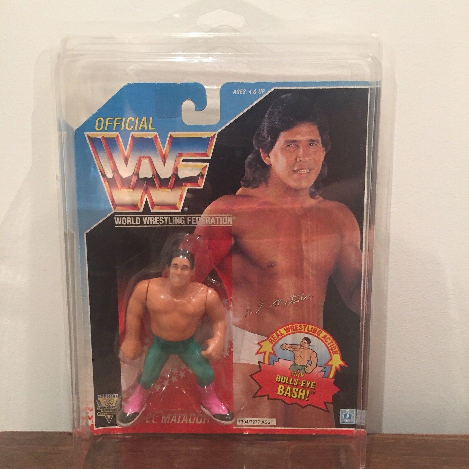 WWF/WWE El Matador Vintage Hasbro Action Figure 1993 Series 6 MOC with case