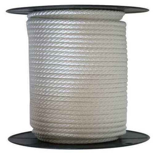 """ANCHOR ROPE DOCK LINE 1//4/"""" X 100/' BRAIDED 100/% NYLON WHITE MADE IN USA"""
