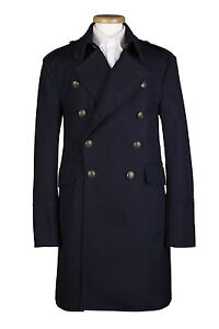 SALE-59-MENS-NEW-LONG-NAVY-MILITARY-HEAVY-TRENCH-COTTON-COAT-36-38-40-42-034