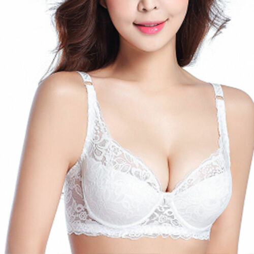 Plus Size Women/'s Full Coverage Underwire Non Padded Lace Sheer Minimizer Bra EF