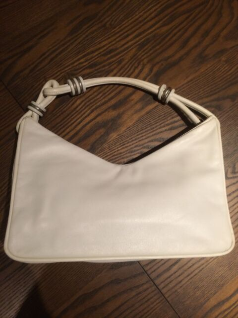 Genuine BOTTEGA VENETA White Leather Handbag