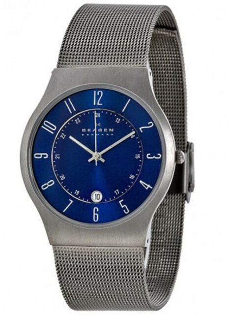 Skagen Men's Grenen Titanium Case Stainless Steel Mesh Watch 233XLTTN