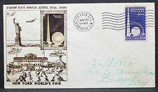 US Illustrated Cover FDC World's Fair NY Stamp 3c 1939 USA Ersttagsbrief (H-7253