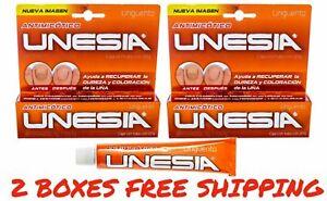 2 PACK UNESIA Anti Fungal Unas de Manos y Pies OTC Foot Nail Fungus 2 CREAMS 40g