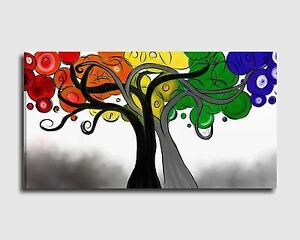 Dipinti Per Soggiorno : Quadri moderni dipinti a mano albero stilizzato per salone