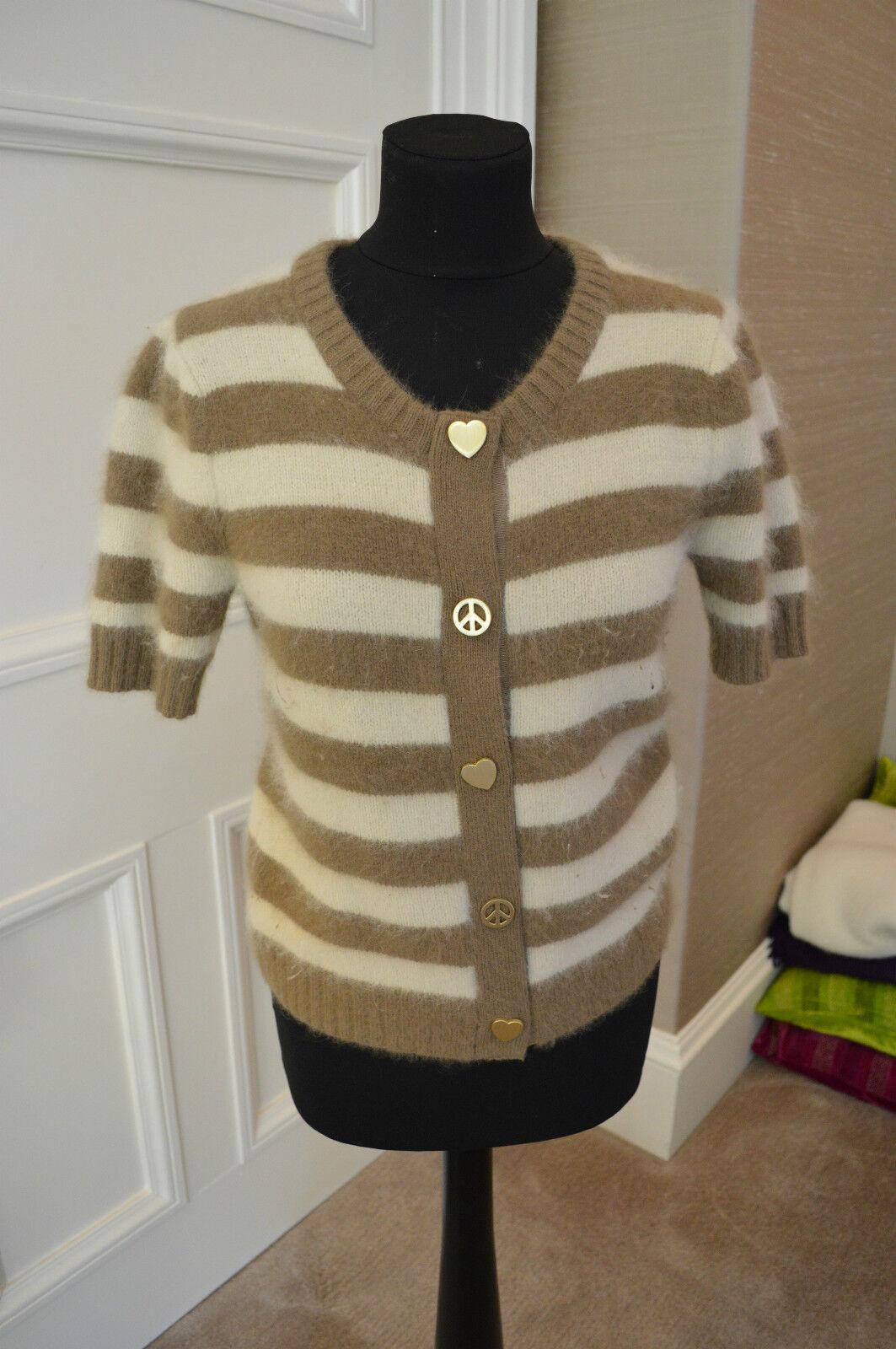 Donna Mulberry a a a righe lana cardigan con bottoni oro. Taglia XS 93b0d3