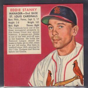 1953 Eddie Stanky St Louis Cardinals Red Man Tobacco Cut