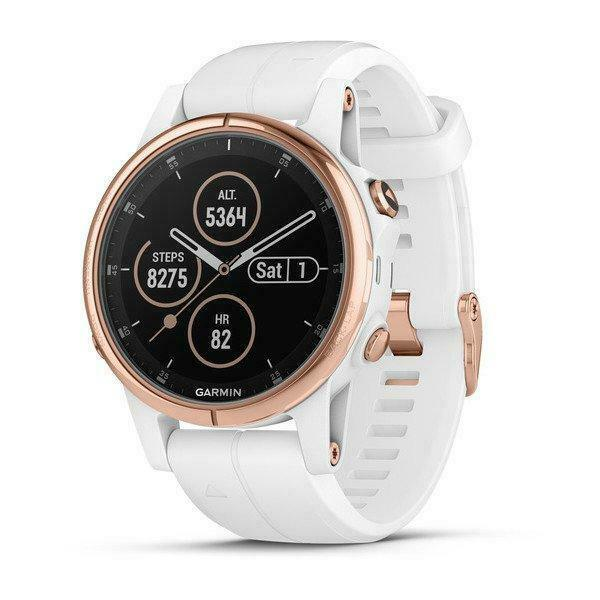 Garmin fenix 5S Plus, Sapphire, White pink gold w White Band