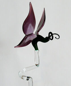 Orchid-Rod-Orchid-Holder-Made-of-Glass-Butterfly-Purple