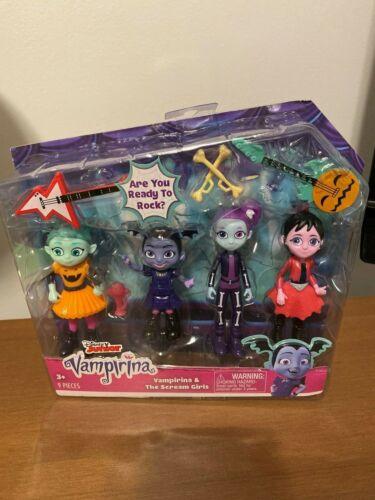 Vampirina /& The Scream Girls 9 piece Play Set Dolls NIP