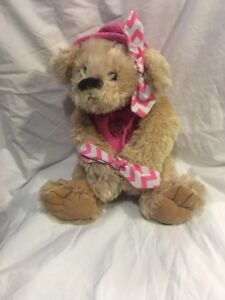 Teddy-Bear-Soft-Plush-14-Pink-Sweater-HoodieSmall-Cute-Toy-Valentines-Day-Gift