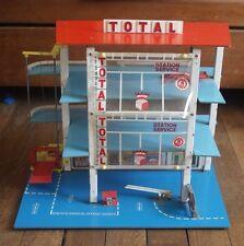 Garage Pliant TOTAL / FRANCE JOUET pour Véhicules Miniatures - Vintage 1960 1970