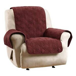 Enjoyable Details About Deluxe Non Skid Waterproof Recliner Sofa Loveseat Furniture Cover Sure Fit Wine Pdpeps Interior Chair Design Pdpepsorg