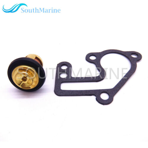 6E5-12411-00 Thermostat 682-12414-A1 Gasket for Yamaha 9.9hp 15hp 2-Stroke E9.9B