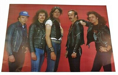 Vintage Saxon 1980's Heavy Metal Band Group Music Poster Rare ...