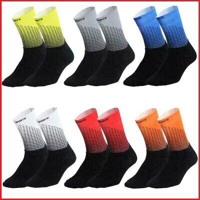 Red Blue or Hi-Viz Black D2D Comfort Performance Cycling Socks