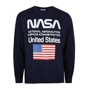 comparer les prix magasin en ligne 100% de haute qualité Détails sur NASA-Administration-Official Licensed-Homme-Pull-Bleu  Marine-S-XXL- afficher le titre d'origine