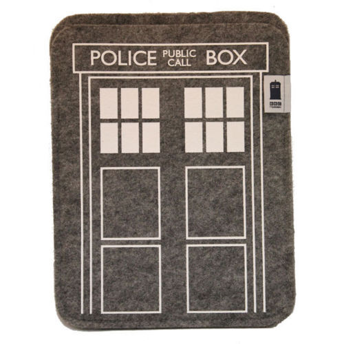 Doctor Who Tardis Felt Table Sleeve iPad Official BBC New In Pack