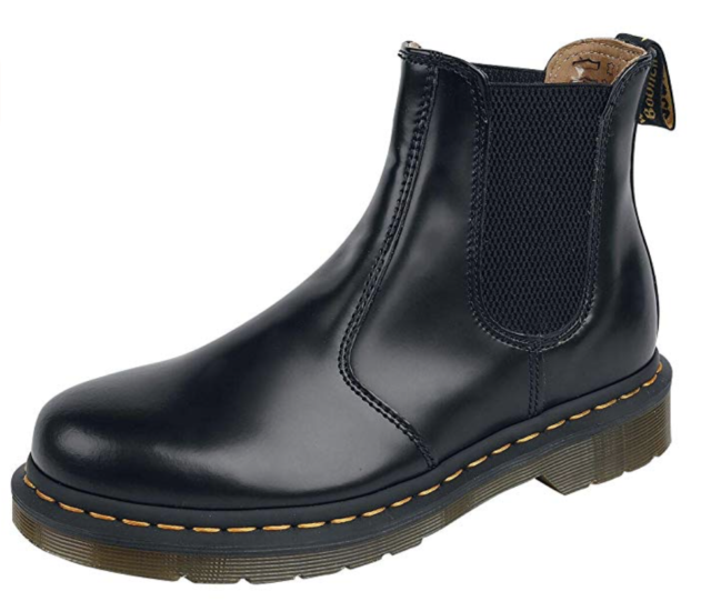 DR MARTENS 2976 Smooth Leather Pull On Chlesea Boot Black Women US 7 Men US 6