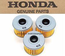 New Genuine Honda HM5 Oil Filter 3 Pack Many TRX SXS 300-500 OEM See Notes #S110